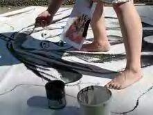 Pintando pancartas...