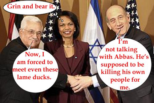 Abbas, Olmert and Ri...