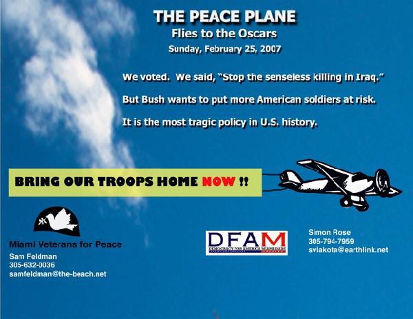 The Peace Plane flie...