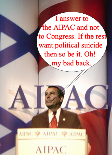 Bad back Boehner...