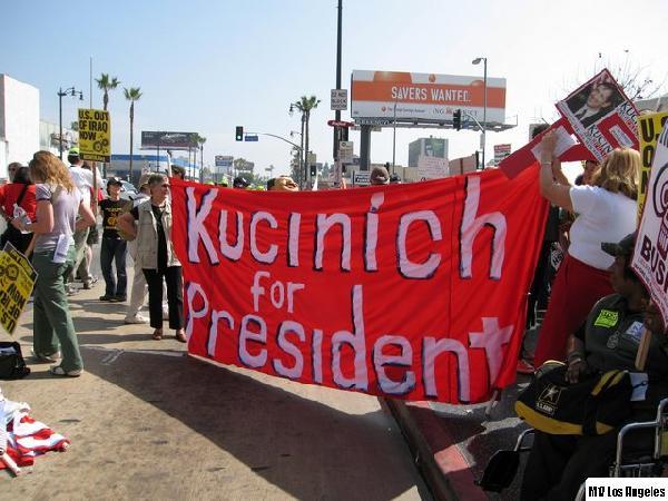 Kucinich...