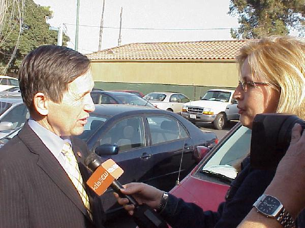 KTLA interviews Denn...