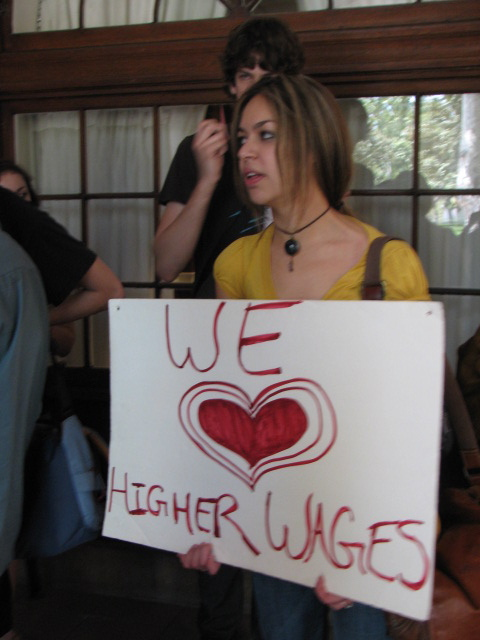 we love higher wages...