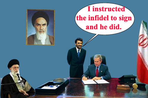 Bush surrenders...