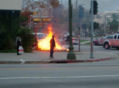 Suspect fire...