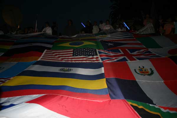 flags...