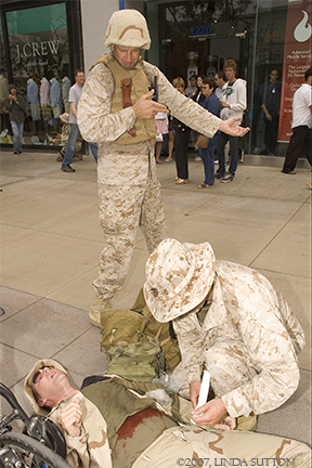 Shot Soldier...