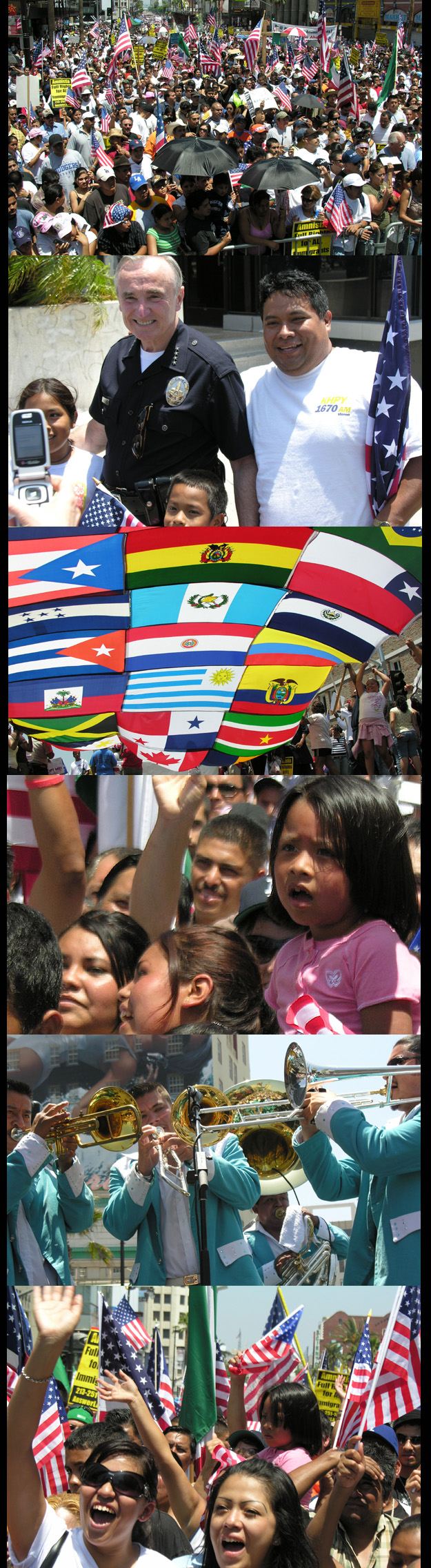 June 24 March-Rally For Immigrants Rights in LA - A Success