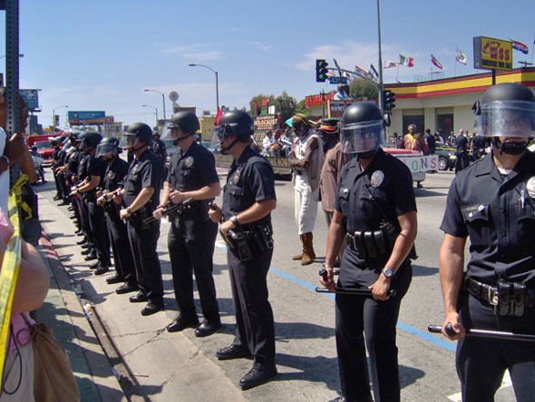 LAPD ready to arrest...