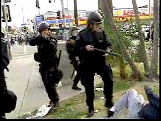 police in the park...