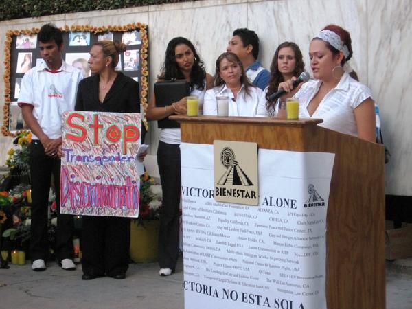 Vigil for HIV+ trans...