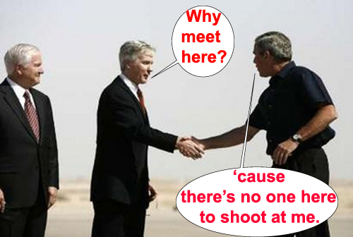 Bush still a coward...