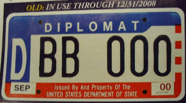 New Diplomatic Plate...