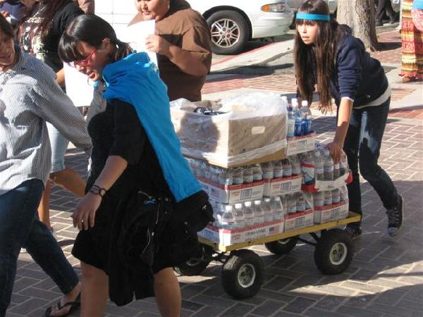Transporting water a...