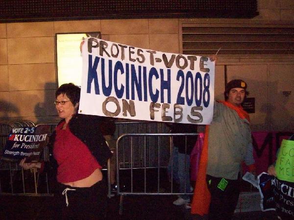 Kucinich contingent ...