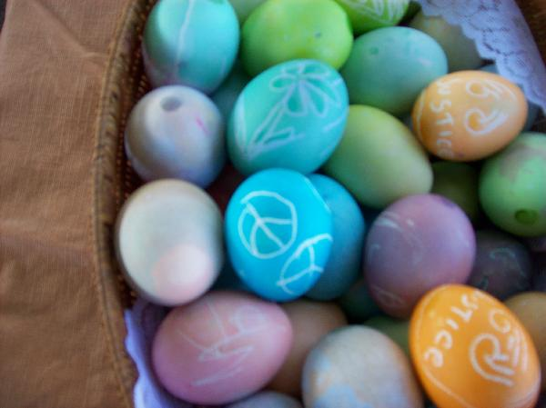 Peace Easter eggs...