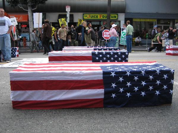 Mock Coffins...