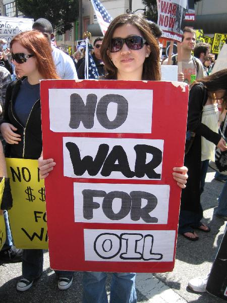 No War for Oil...