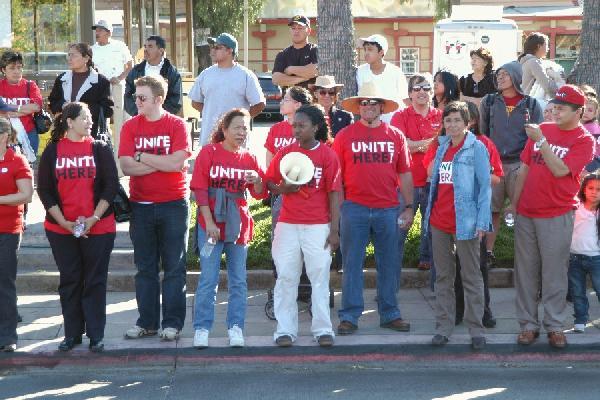 Labor unions march o...