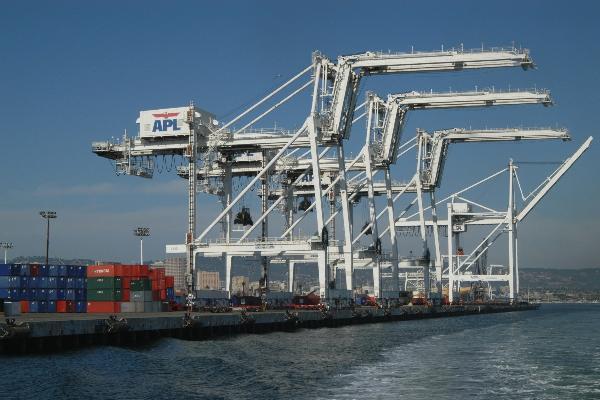 Port cranes idled...
