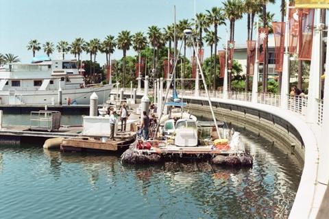 JUNK boat set sail S...