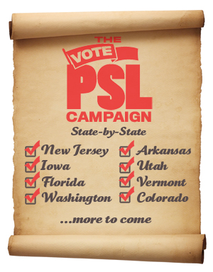 PSL on the ballot in...