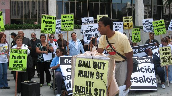 Foreclosures Protest...