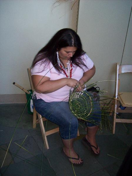 Basket making...