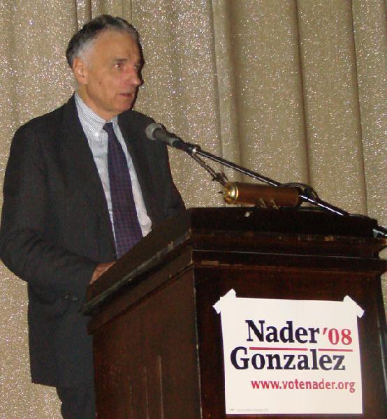 Ralph Nader...