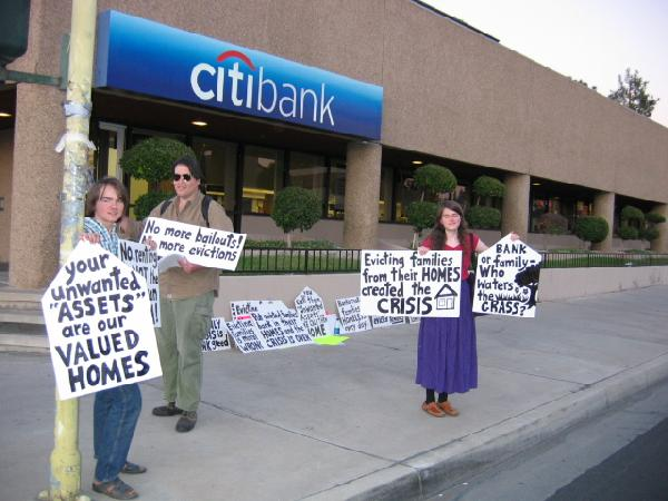 In front of citibank...