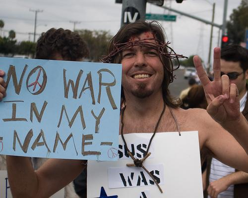 "Jesus: ""No war ..."