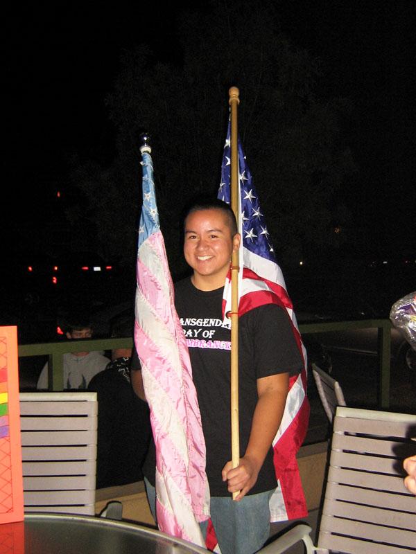 Flag bearer on the m...
