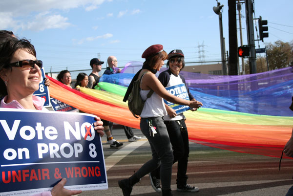 protest prop 8 East ...