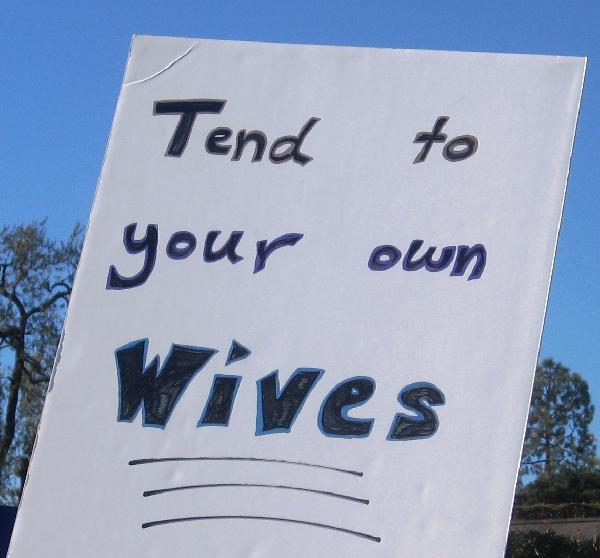 demonstration sign...