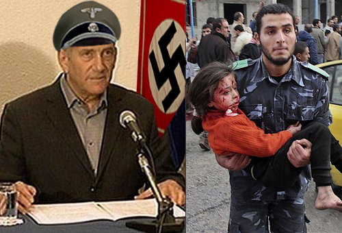 Nazi attack on Gaza...