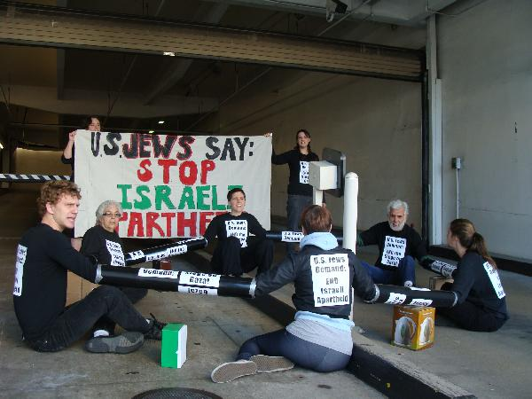 Jew protest Gaza - 1...