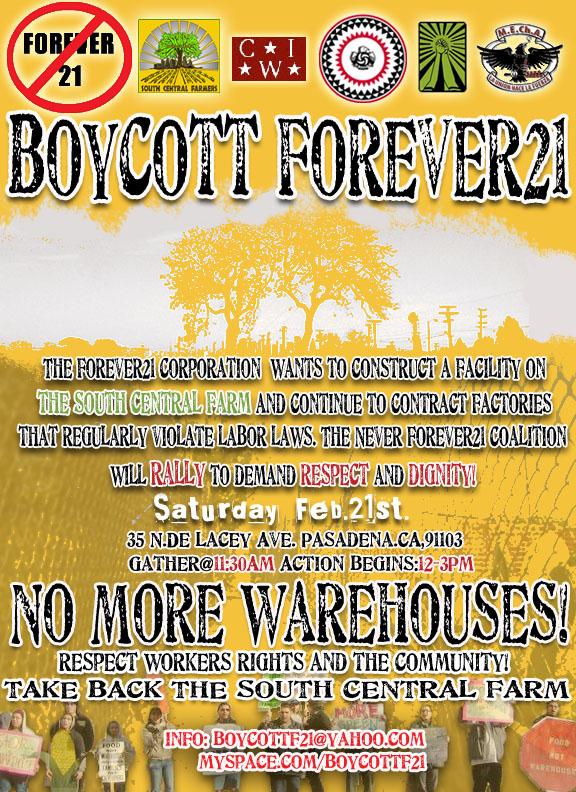 Feb 21, 2009 Protest Forever 21 in Pasadena