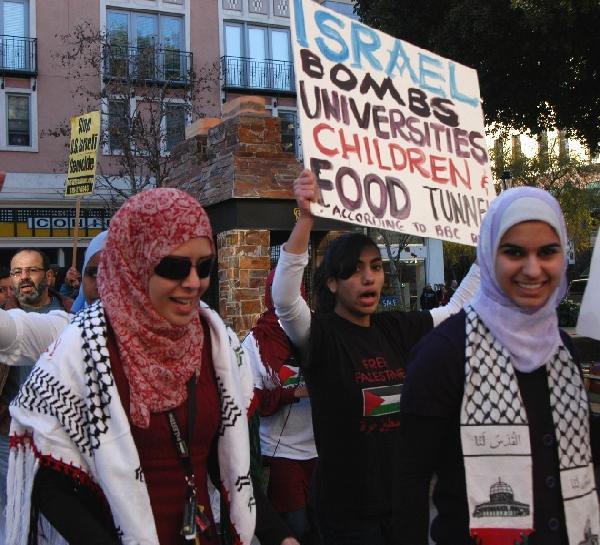 Palestinian youths...