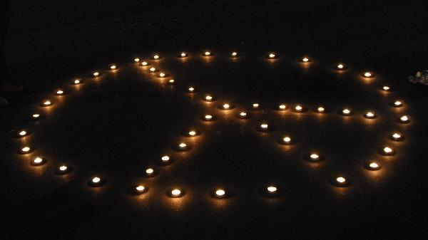 Candlelight vigil at...