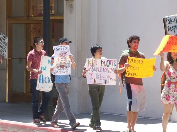 Demonstrators...