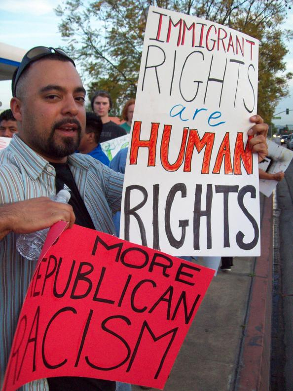 Immigrant rights are...
