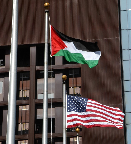Flag raising...