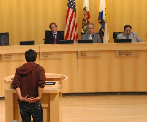 Resident testifies b...