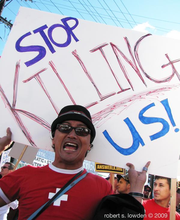 HIV Protester...