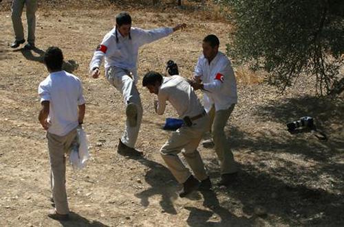 Israeli Nazis attack...