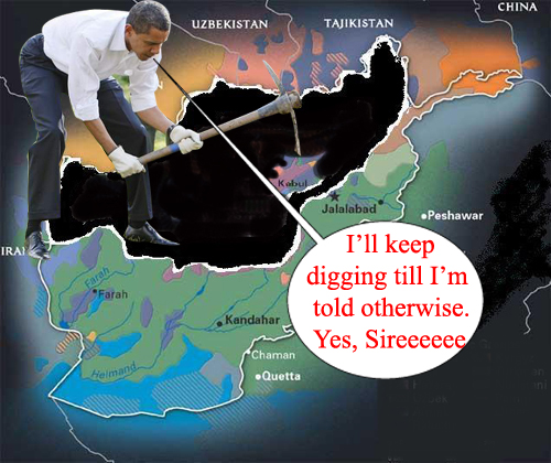 Obama digging himsel...