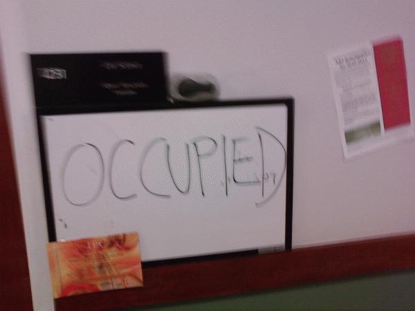 Occupied...