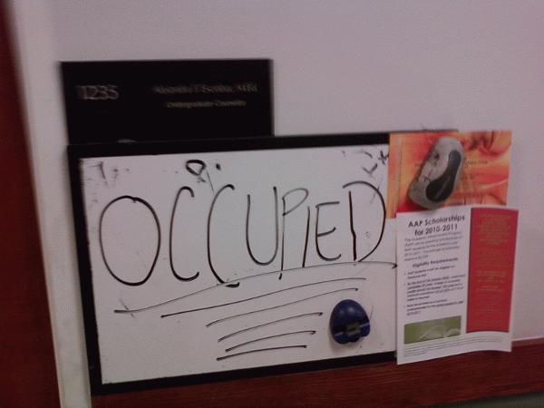 Occupied (lavishly)...