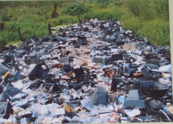 E-waste in a dump...