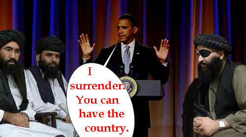 Obama surrendered to...